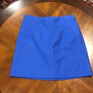 J Crew Cobalt Pencil Skirt Size 4